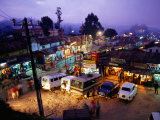 Shops and Stalls at Dusk  Kodaikanal  Tamil Nadu  India