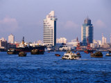 Tour Boats on Huangpu River  Shanghai  China