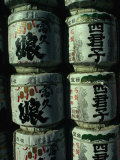 Sake Barrels at Oagata-Jinja Shrine (Female Shrine) in Inuyama  Gifu  Chubu  Japan