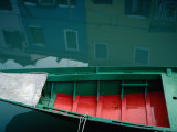Painted Boats and House Reflections on the Island of Burano  Burano  Veneto  Italy