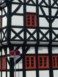 Half-Timbered House of Medieval Town Erfurt  Thuringia  Germany