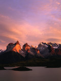Sunrise Over Lago Pehoe and Cuernos Del Paine  Torres Del Paine National Park  Chile