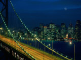 City View from the Bay Bridge  San Francisco  California  USA