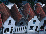 Overview of Rooftops and House Facades in Zierikzee  Zeeland Netherlands
