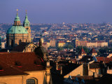 View of City from the Rooftops  Prague  Central Bohemia  Czech Republic