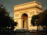 Arc De Triomphe at Dusk  Paris  France