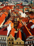 Looking Over Old Town Towards Church of St Gall  Prague  Czech Republic