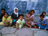 Children Outside Al Kufa Mosque  Al Kufah  an Najaf  Iraq