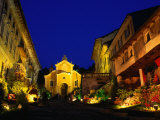 Medieval Town of Orta San Guilio and Its Yellow Church  Milan  Italy