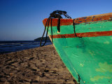 Weathered Wooden Boat Prow on Beach  Tela  Atlantida  Honduras