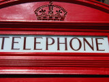Detail of Old Public Telephone Box  London  United Kingdom