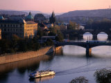Boating Up the Valta River  Prague  Central Bohemia  Czech Republic