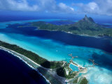 Aerial View of Island  French Polynesia