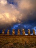 The Seven Moais of Ahu Akivi  Easter Island  Valparaiso  Chile