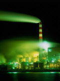 Pollution from Pulp Mill Enhanced at Night  Eureka  California  USA