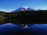 Mt Rainier Reflected in Reflection Lake  Mt Rainier National Park  USA