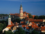 Castle  White Tower and St Jost Church  Cesky Krumlov  Czech Republic