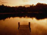 Pier Overlooking Still Water  Mallacoota  Victoria  Australia