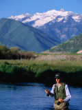 Fly-Fishing in Utah's Provo River  Provo  Utah  USA