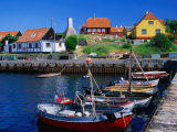 Small Village Harbour  Gudhjem  Bornholm  Denmark