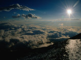 Sun Over Clouds at Mount Fuji  Mt Fuji  Japan