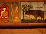 Mural in Buddhist Monastery at Xishuangbanna  Yunnan  China