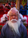 Portrait of an Elderly Man with Grey Beard  Tainan  Taiwan