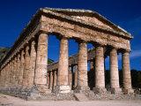 Ancient Doric Temple  Segesta  Sicily  Italy