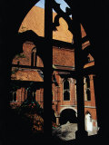 Medieval Window and Courtyard of the High Castle at Malbork Castle  Malbork  Pomorskie  Poland
