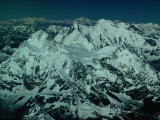 Aerial View of Himalayan Ranges from Flight Between Lhasa and Kathmandu  Tibet