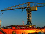 Crane at Commercial Harbour  Brest  Brittany  France
