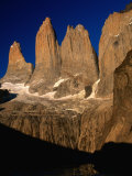 """The Towers"" from Torres Del Paine Lookout  Torres Del Paine National Park  Chile"
