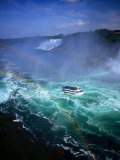 Maid of the Mist Tour Boat in Turbulent Water  Niagara Falls  Ontario  Canada