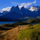 Cuernos in Late Afternoon Light  Torres Del Paine National Park  Chile