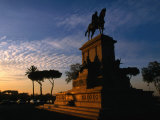 Statue of Giuseppe Garibaldi on Piazza Garibaldi at Sunset  Gianicolo (Janiculum Hill)  Rome  Italy
