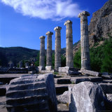 The Ancient City of Priene in Aydin Was Carried to Its Present Locality in the Year 350 BC Turkey