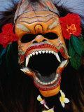 Demon Mask Used During Morning Barong Performance in Batubulan  Batubulan  Indonesia