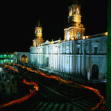 A Candlelit Procession Makes Its Way Around the Plaza De Armas  Lima  Peru