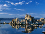 Tufa Outcrops Reflected in Lake  Eastern Sierra Nevada  Mono Lake  USA