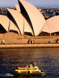 Ferry and Sydney Opera House  Sydney  Australia