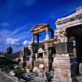 The Fountain of Emperor Trajan  Ephesus  Izmir  Turkey