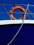 Rope and Life Ring on Boat  Crete  Greece