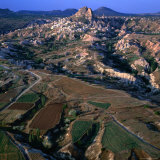 An Aerial View of Uchisar and the Cappadocia Landscape  Cappadocia  Nevsehir  Turkey