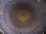 Dome Ceiling of Sheikh Lotfollah Mosque  Esfahan  Iran