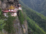 Taktsang (Tiger's Nest) Dzong Perched on Edge of Steep Cliff  Paro Valley  Bhutan