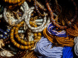 Detail of Beads for Jewelry Making  Makola Market  Accra  Ghana