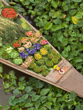 Detail of Boat in Water Lilies  Floating Market  Bangkok  Thailand