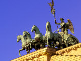 Brandenburg Gate Quadriga  Unter Den Linden  Berlin  Germany