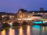 Mittlere Rhinebrucke and Rhine River  Basel  Switzerland