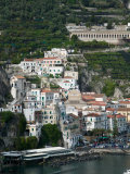 Town View with Harbor  Amalfi  Amalfi Coast  Campania  Italy